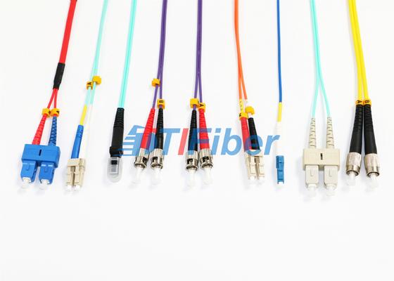 Cavo di toppa di singolo modo della MU MTRJ/cavo a fibre ottiche misto del duplex