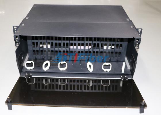 quadro d'interconnessione a fibra ottica scorrevole 4U per modulo della cassetta della fibra MPO/di MTP
