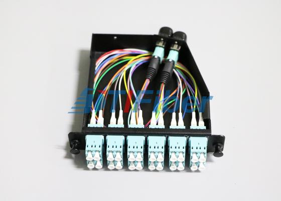 I 24 centri OM4 MTP/cavo toppa a fibra ottica di MPO per le cassette di MPO