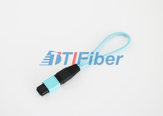 """12 il centro """"loopback"""" a fibra ottica di OM3 MPO/MTP con perdita di inserzione bassa"""